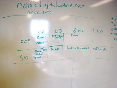 På møtet i Karlskrona skisserte nettverkets deltagere utvekslinger av...
