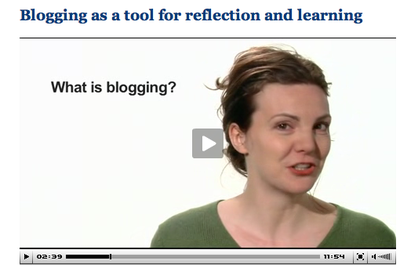 Screenshot of video lecture by Jill Walker Rettberg