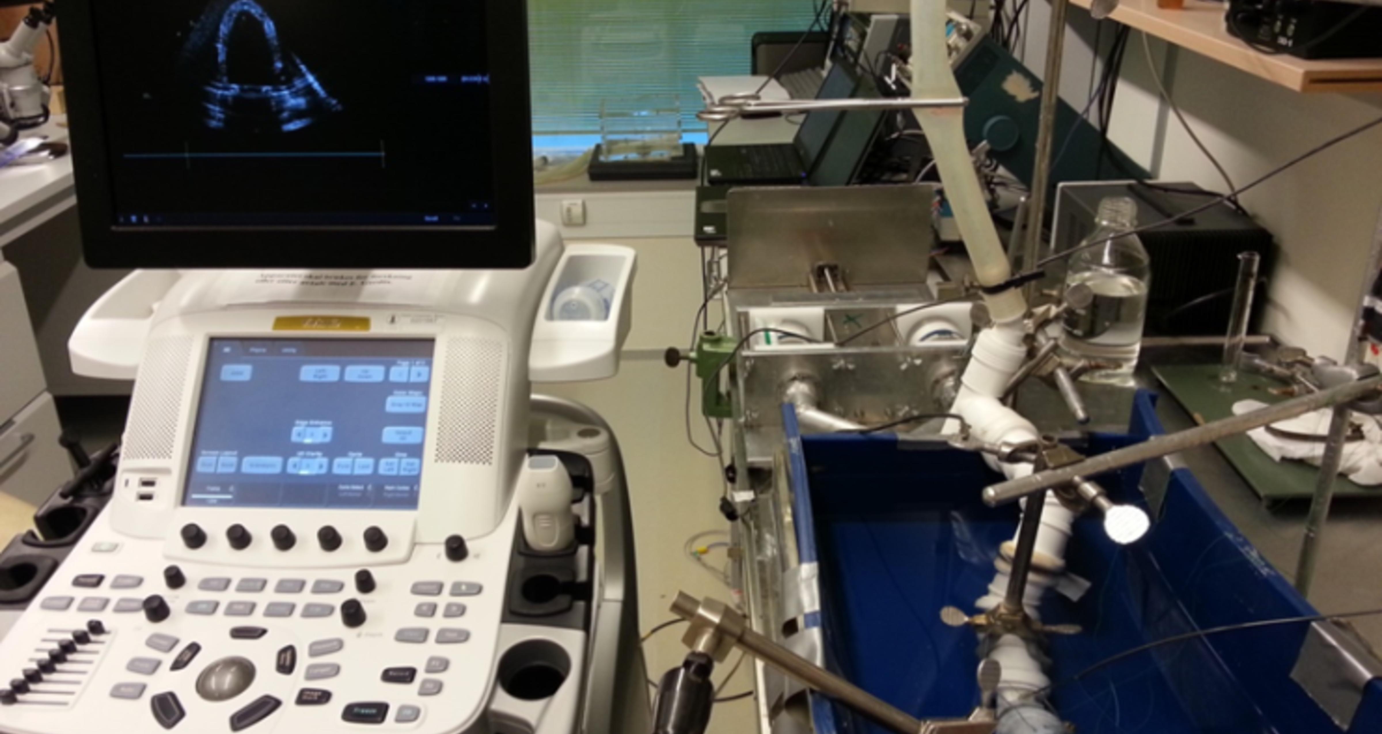 Ultralydapparat og laboratorieoppsett