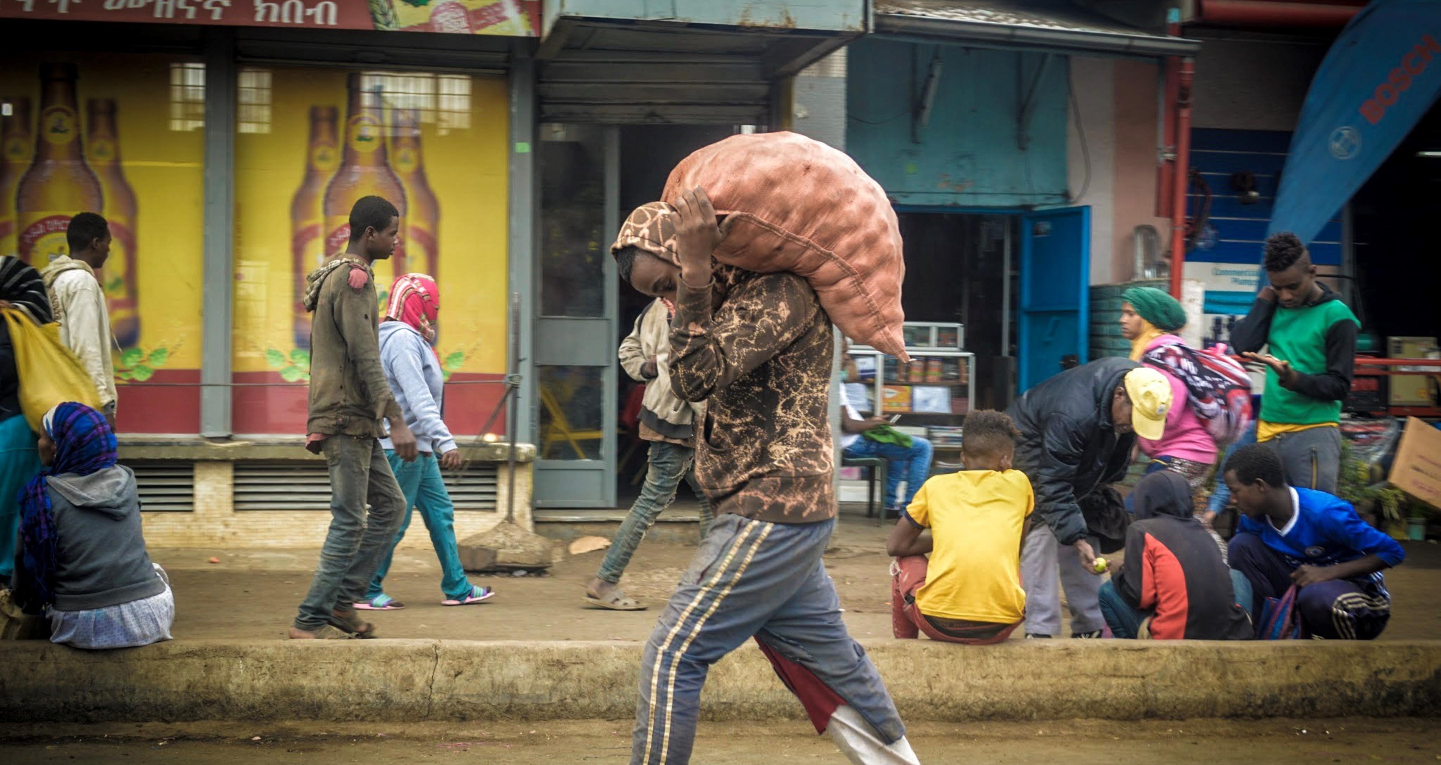 Streets of Addis Ababa, Ethiopia