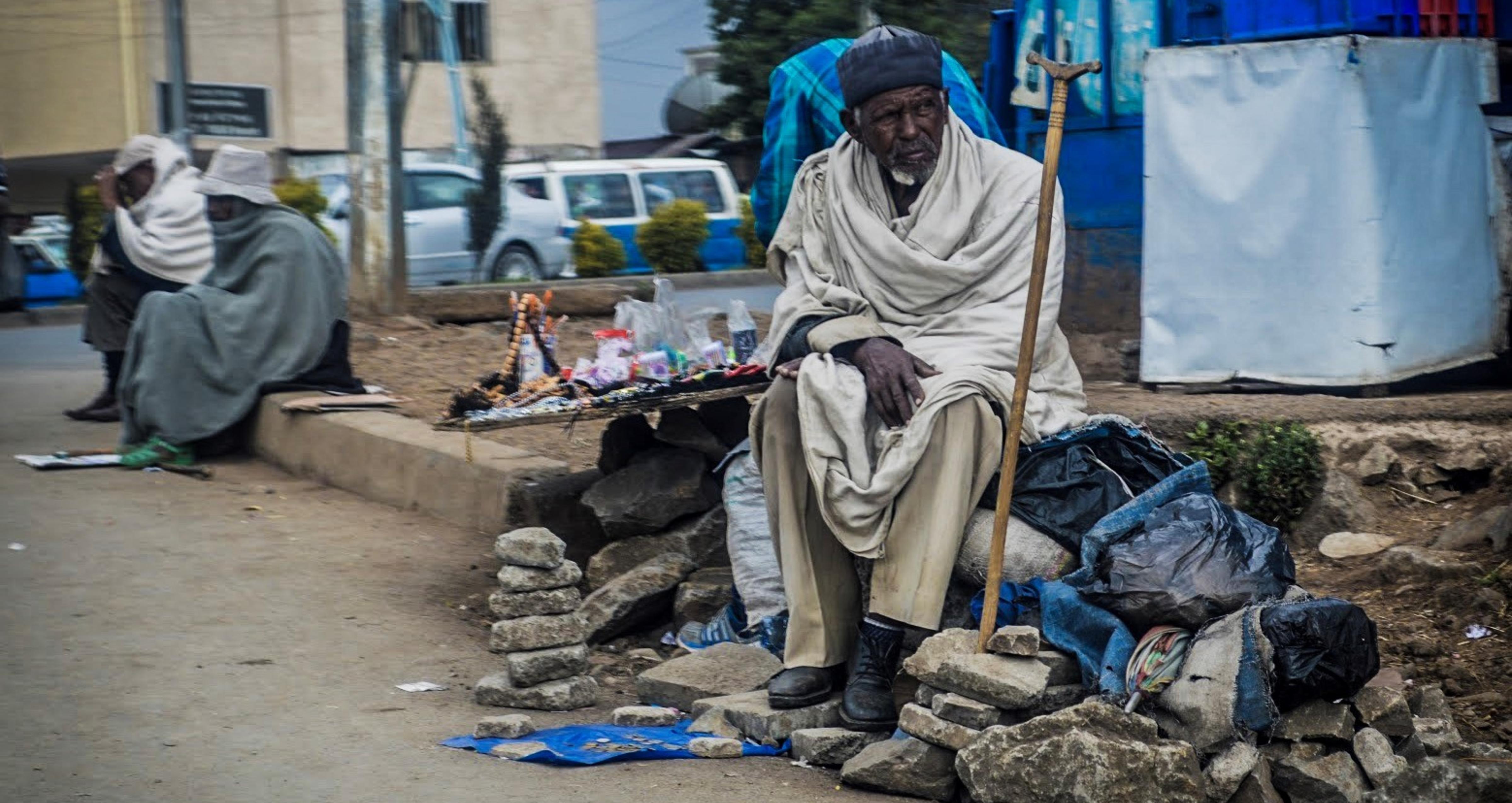 man on the street, Addis Ababa, Ethiopia