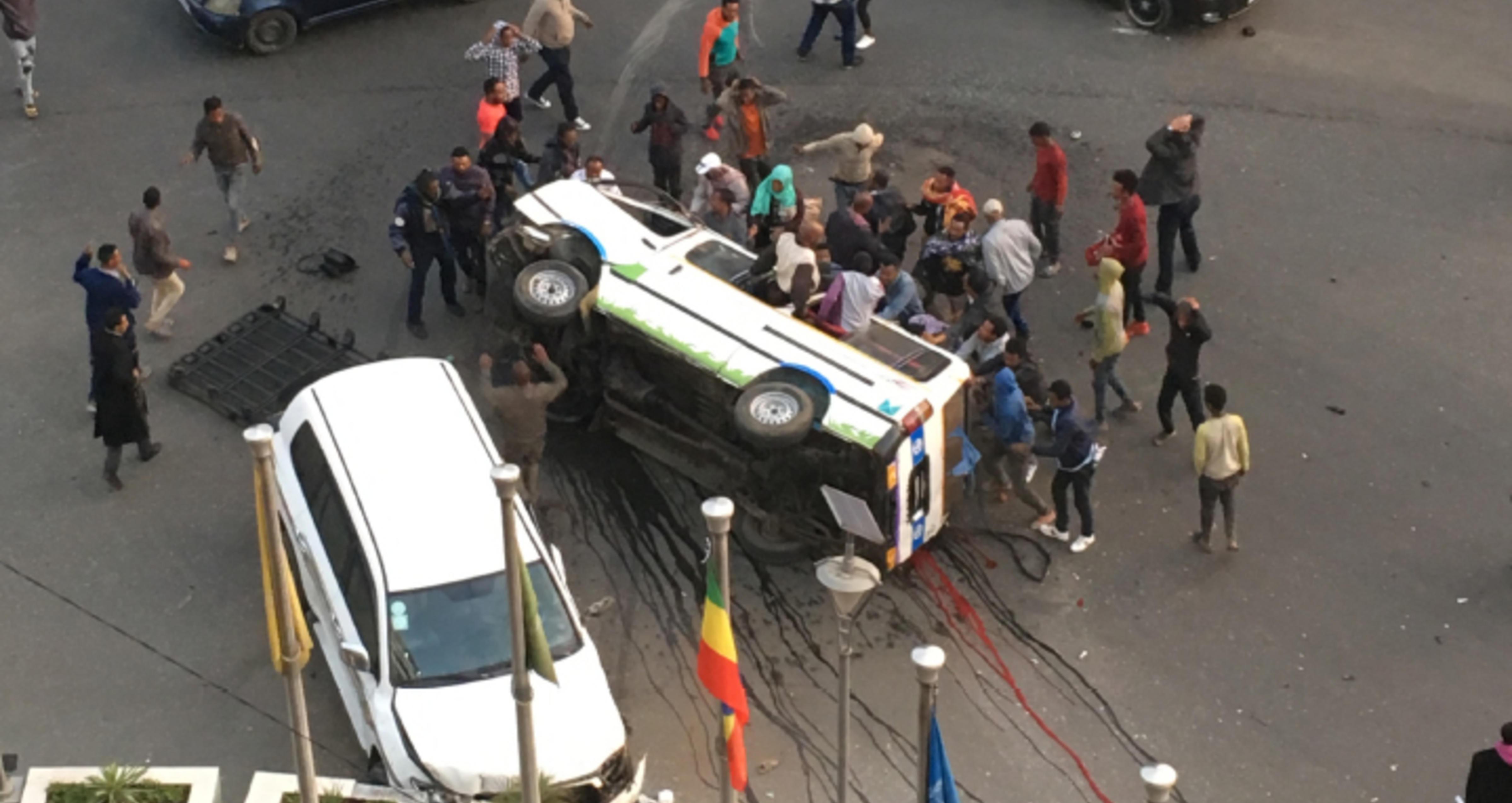 Traffic accident Ethiopia.
