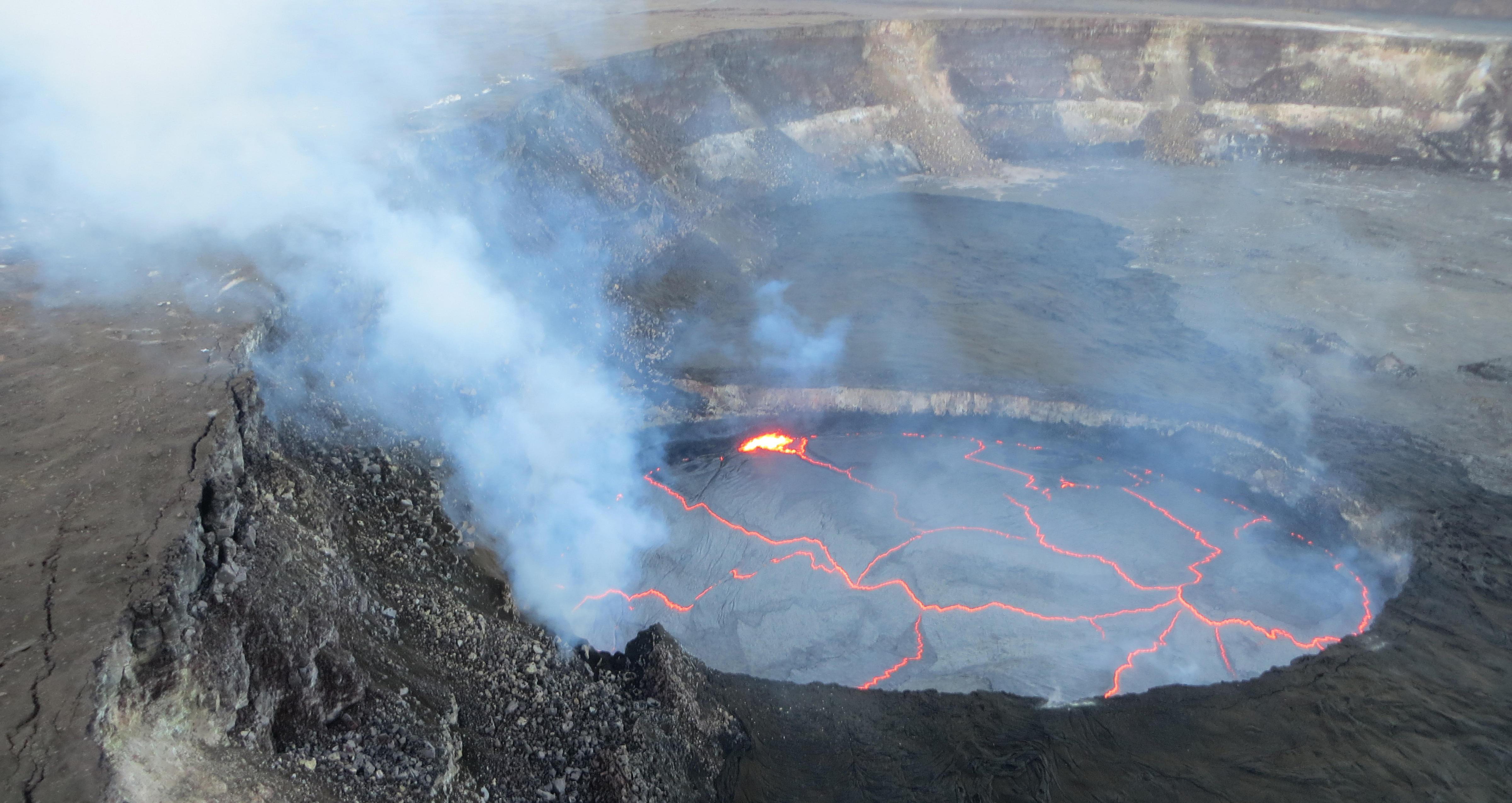 Vulkanen Kilauea, sett frå lufta