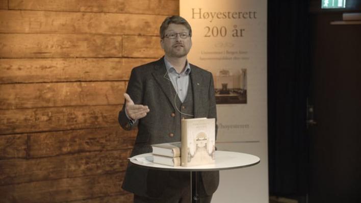 Boklansering, Høgsteretts historie 1965 - 2015, Del 1
