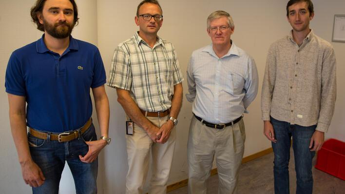 Torger Kielland, Tore Lunde, Geoff Scott og Tucker Anderson