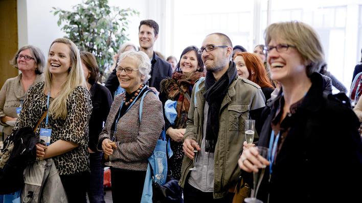 Publikum under foredrag på alumnusdagene