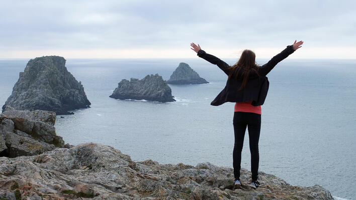 Her er jeg og Atlanterhavet nesten lengst øst i Frankrike