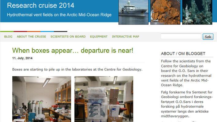 Cruise blog