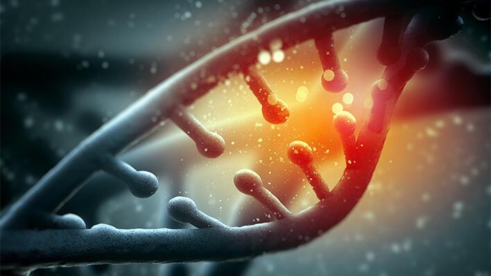 Illustrasjonsbilde: DNA-streng