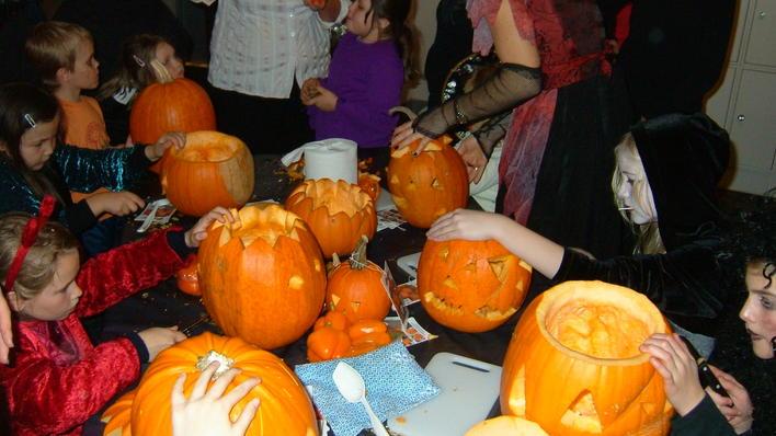 Halloween på museet