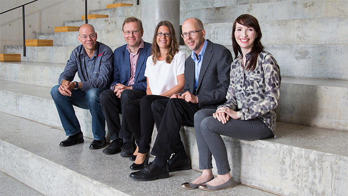 Prisvinnarar - Edvin Schei, Harald Wiker, Camilla Krakstad, Jan Haavik og Agnete T. Engelsen