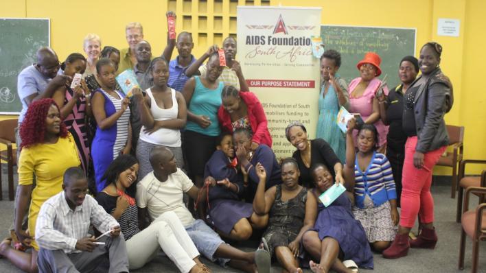 Henriette Sinding Aasen på besøk hos AIDS Foundation i Durban.