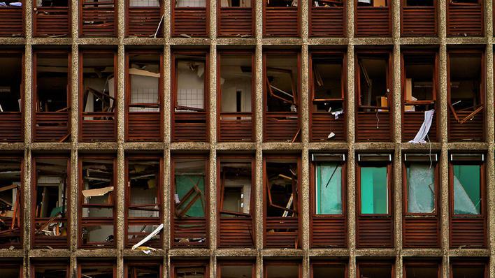 Høyblokken etter terrorangrepet 22. juli 2011 (illustrasjonsfoto).