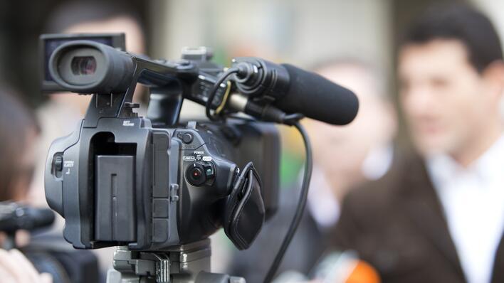 illustrasjonsfoto av et filmkamera