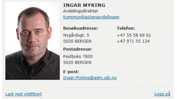 Kommunikasjonsdirektør Ingar Myking oppfordrer alle til å ta bruk de nye funksjonene og mulighetene som er utviklet.