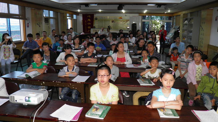 Schoolkids attending a Sunday club