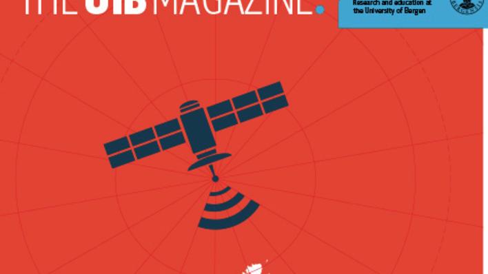 Forsiden av The UiB Magazine 2014/2015, kuttet versjon