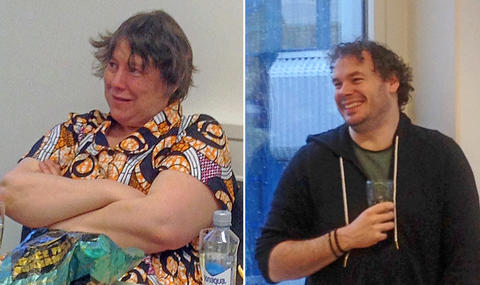 Portraits of Amy Eycott on the left and Joe Chipperfield on the right