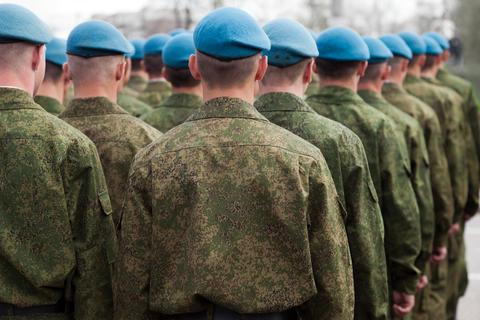 Illustration: army parade