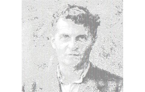ASCII-generert bilde av Wittgenstein