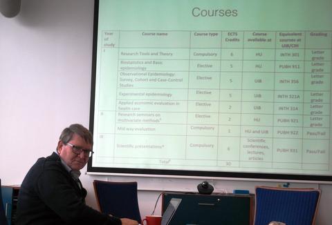 Bernt Lindtjørn Presenting the Joint PhD Program