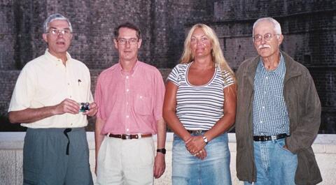 Fra venstre: Bruce Overmier, Robert Murison, Anne Marita Milde og Bill Paré.