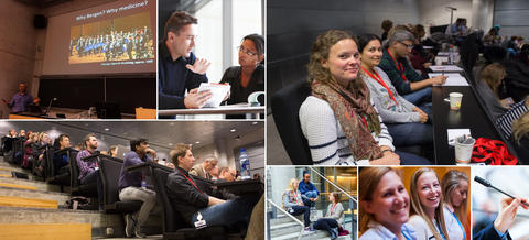 Collage of photos from teaching at the CCBIO Junior Scientist Symposia.