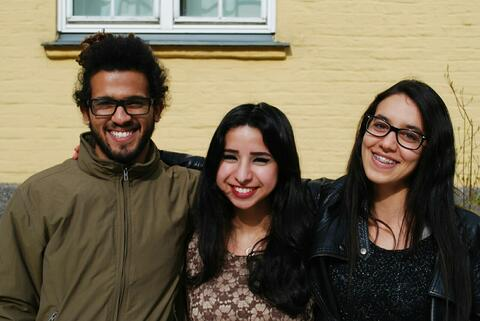 Picture of three students