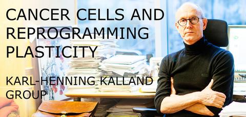 Karl-Henning Kalland in his office.