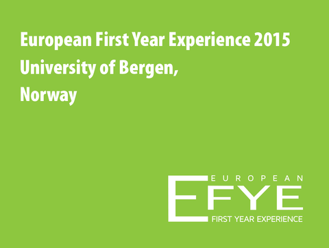 European First Year Experince 2015 conferance logo