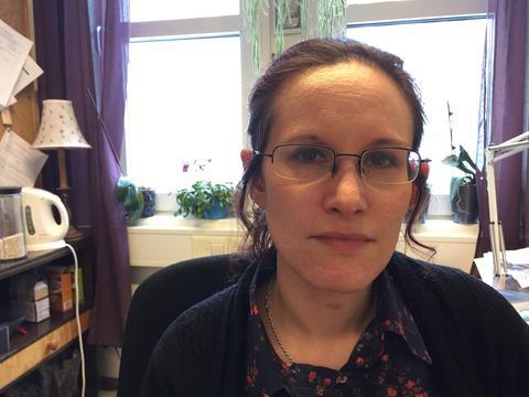 Professor Kristine Jørgensen, Department of Information Science and Media Studies, University of Bergen (UiB), photographed in her office in April 2017, when she was made professor of media studies.