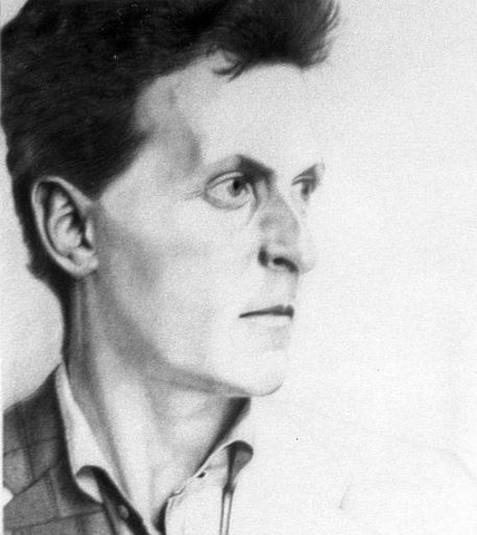 Pencil drawing of Wittgenstein