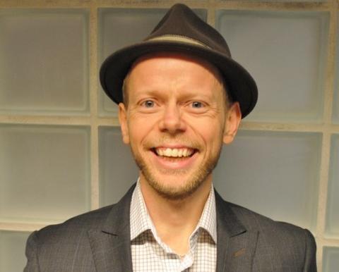 Magne Seierslund, ung mann med hatt