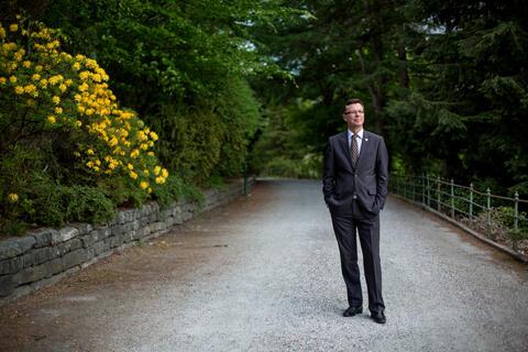 Rector Dag Rune Olsen of the University of Bergen photographed on university campus.