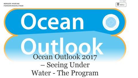 Ocean Outlook 2017 – Seeing Under Water - The Program