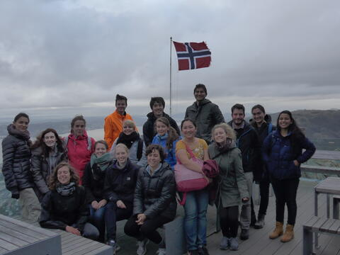 IGSIN course participants at Mount Ulriken
