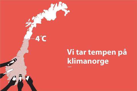 Illustrasjon til arrangementet Vi tar tempen på klimanorge