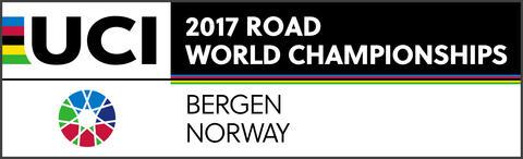 Logo for sykkel VM med teksten 2017 Road world championships