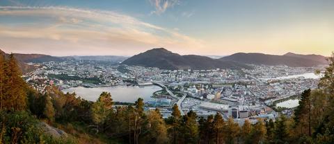 Oversiktsbilde Bergen