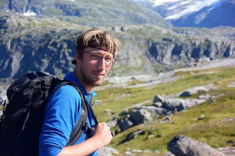 Pic Willem van der Bilt in the Mountain