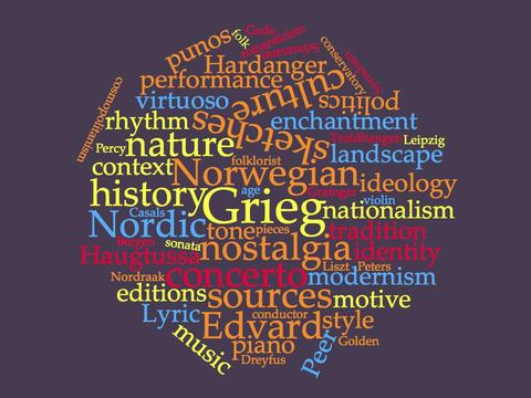 Grieg word cloud