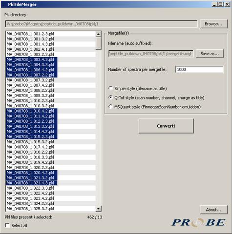 Merging Q-ToF pkl-files