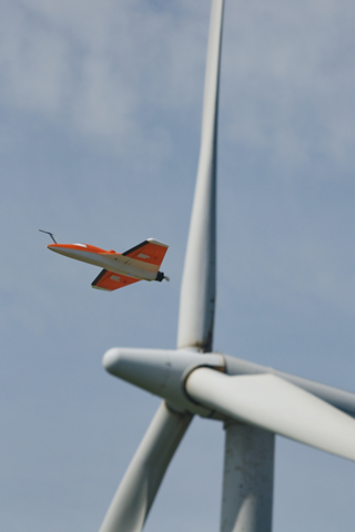 Fig. 4: Operation of SUMO in a wind park for the investigation of wake effects