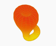 Orange 3d-figur