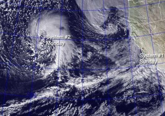 Den første bølgen av El Niño-stormer i januar 2010
