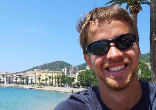 Marius Årthun i isfrie omgivelser på Corsica
