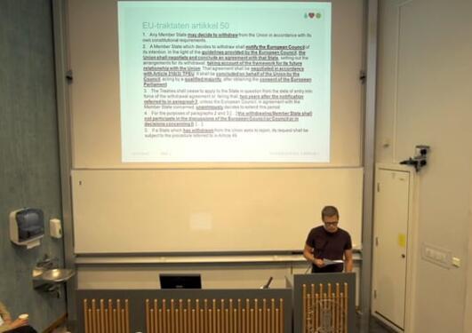 BREXIT-seminar, Dragefjellet 5. juli