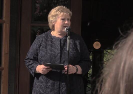 Statsminister Erna Solberg åpner klimaklyngen