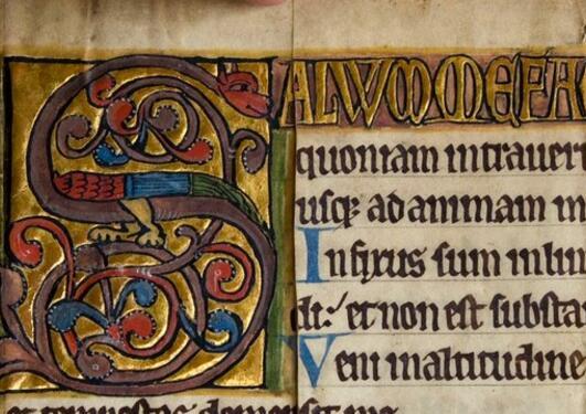 Nærbilder: Manuskriptfragmenter