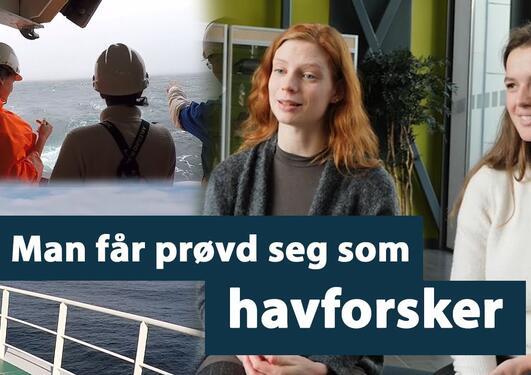 Biologi på UiB: Ingvild og Astrid forteller om å være student på tokt